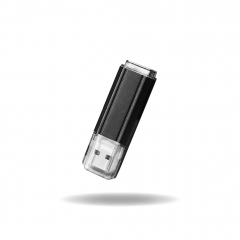 【UA102】(USB2.0)Metal USB Flash Drive with Plastic Cap